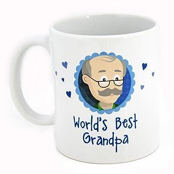 Amazon De Geschenk Opa Geburtstag World S Best Grandpa Tasse