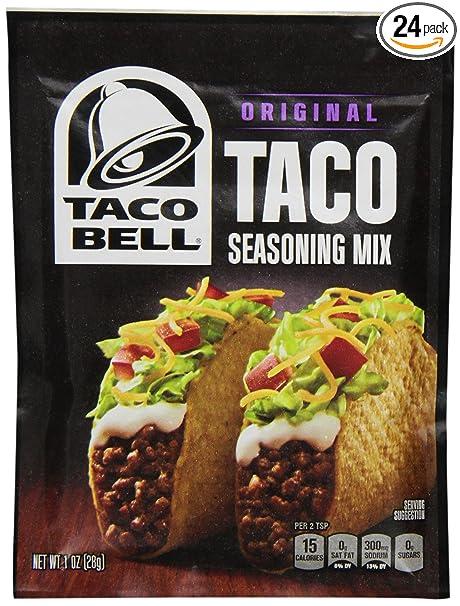 Amazon Com Taco Bell Seasoning Mix Taco 1 Ounce Pack Of 24