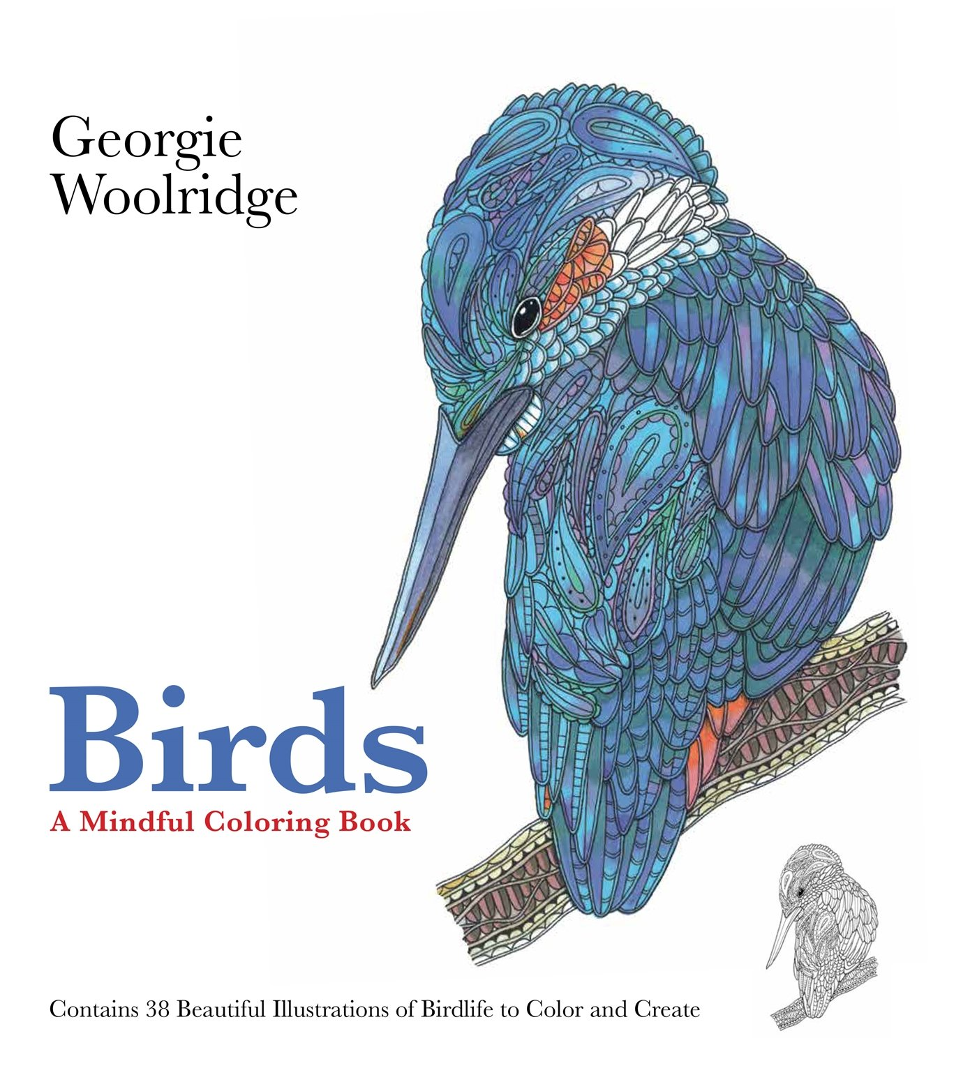 Amazon Birds A Mindful Coloring Book 9781250095022 Georgie Woolridge Books
