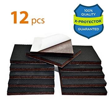 NON SLIP FURNITURE PADS X PROTECTOR U2013 PREMIUM 12 Pcs 3u201d Furniture Pad!