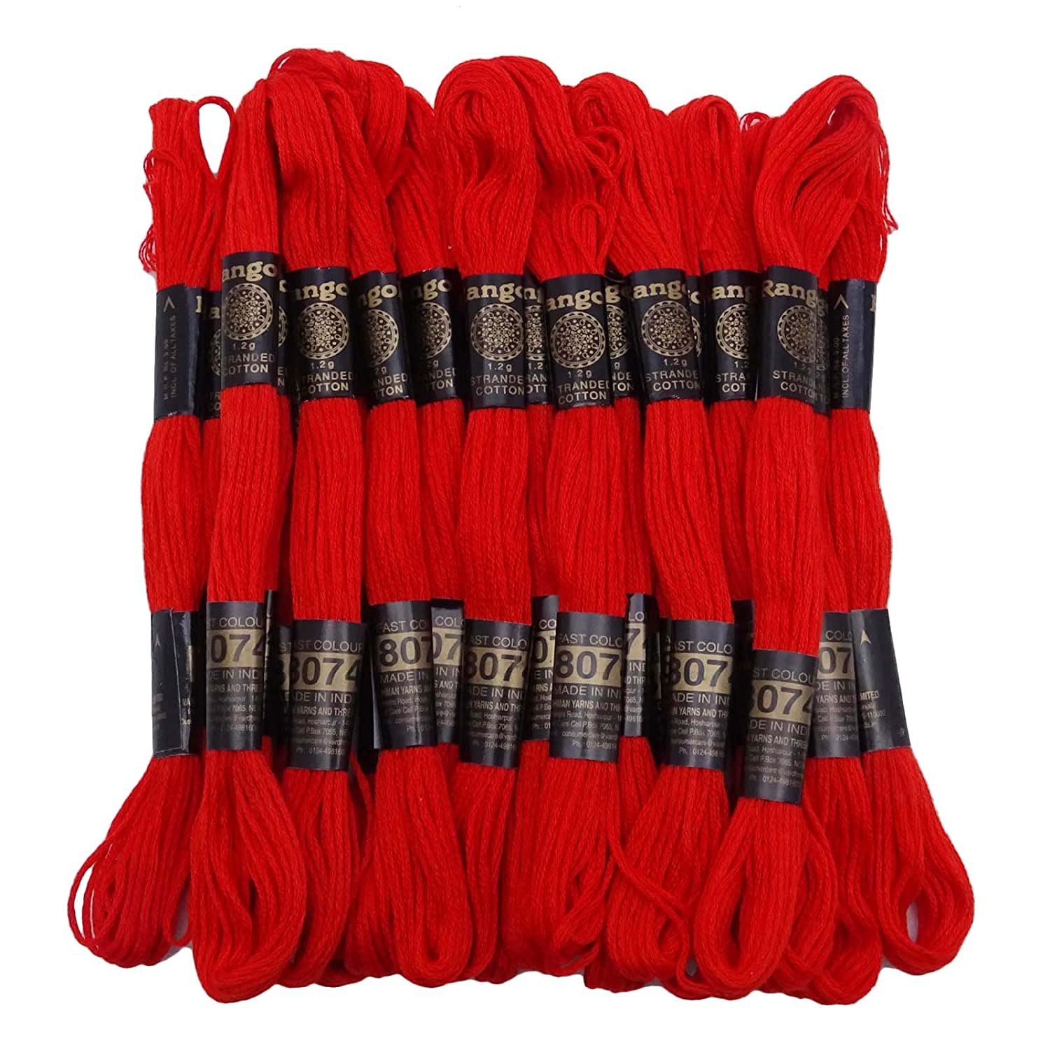 25 Pcs Brown Cotton Thread Floss Sewing Skein Embroidery Stitch Needlepoint Knitwit