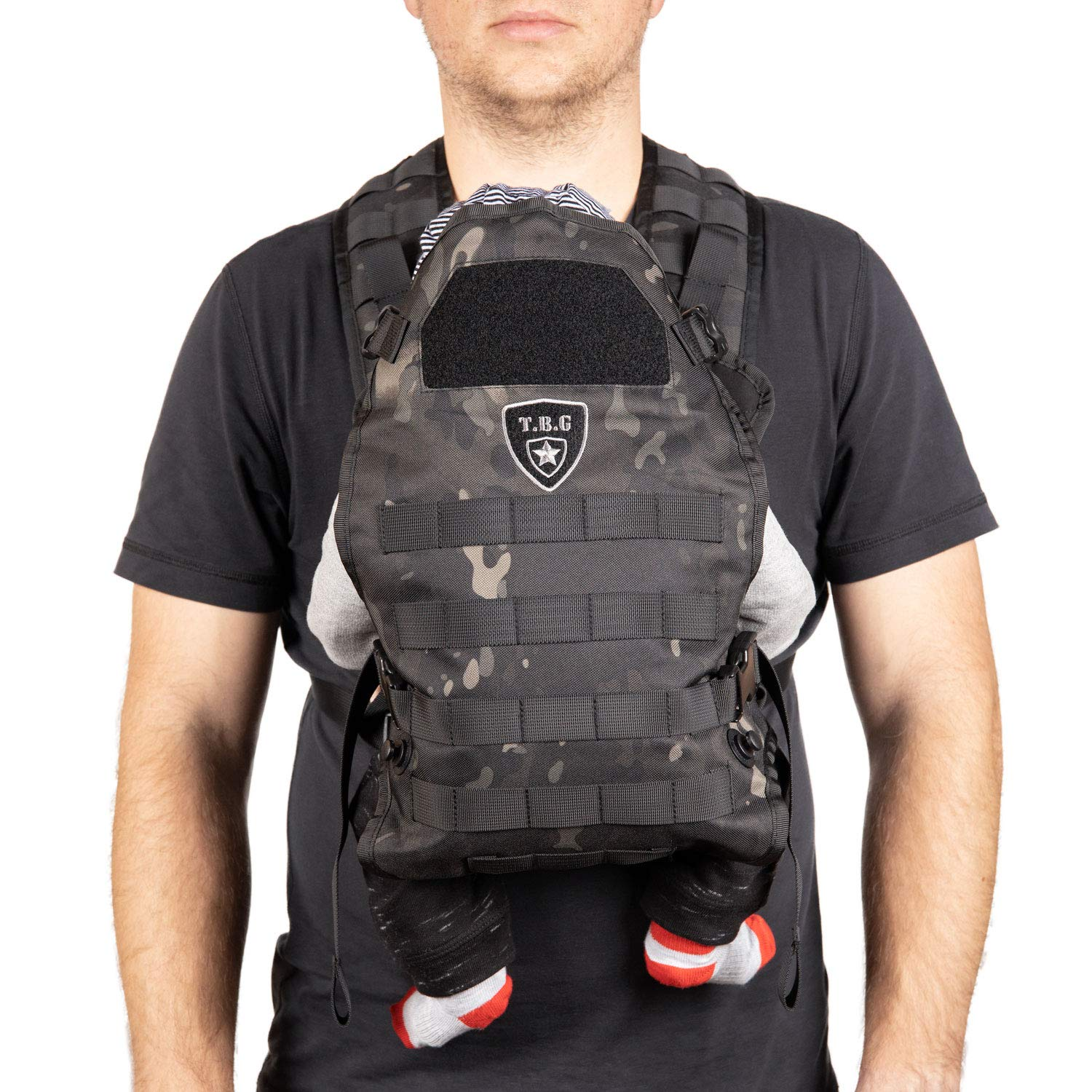 TBG Tactical Baby Carrier (Black Camo)