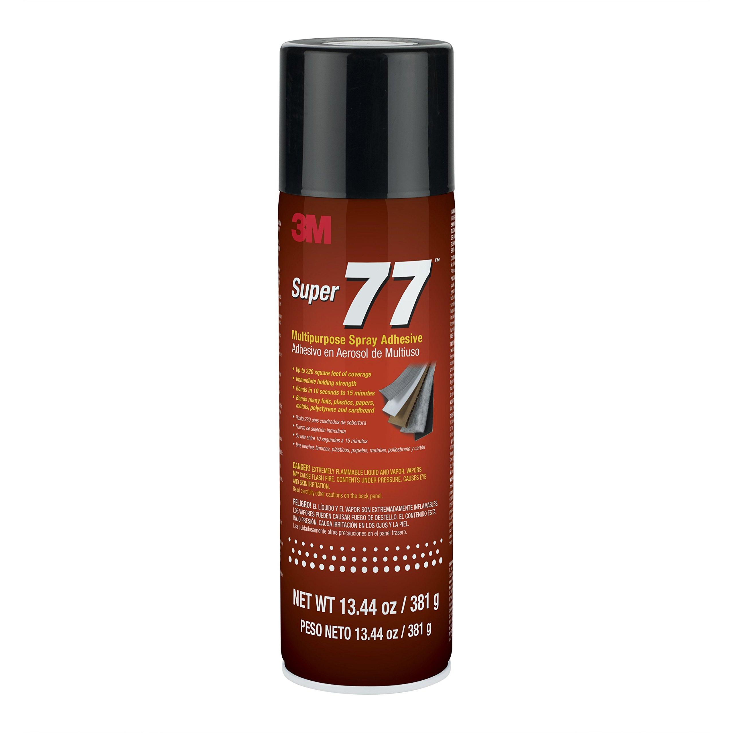3M 86234 Super 77 Multipurpose Spray Adhesive, 13.44 fl. oz.