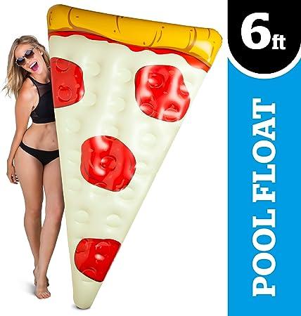 Big mouth - Flotador Hinchable Gigante BigMouth Pizza: Amazon.es ...