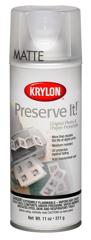 Krylon K07027000 Preserve It Aerosol Spray, 11 Ounce, Matte Finish