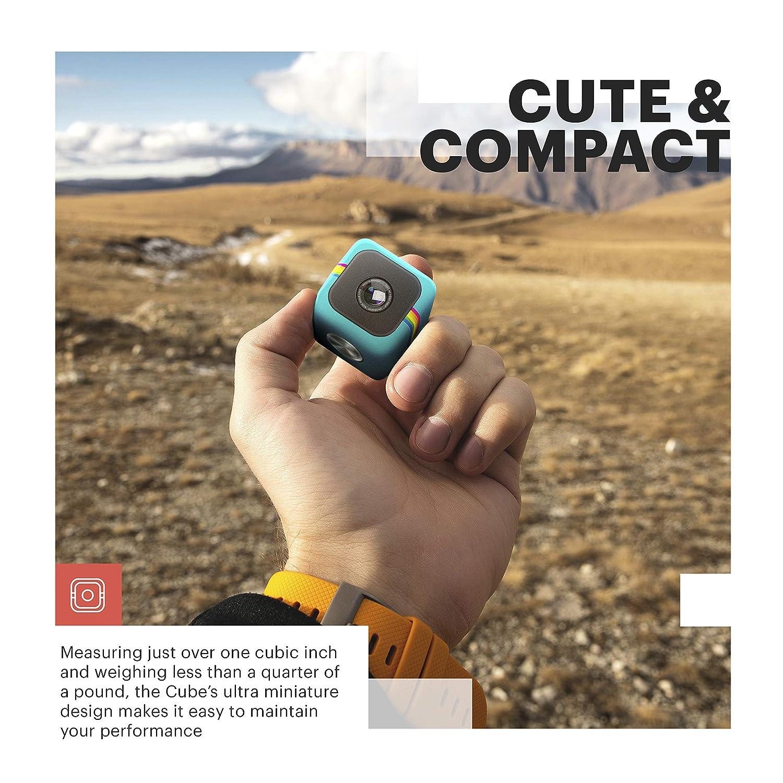 Polaroid Cube - Cámara diseñada para fotografías de 6MP y Clips de vídeo (Resistente al Agua, 3.5 x 3.5 x 3.5 cm, 45 g), Negro