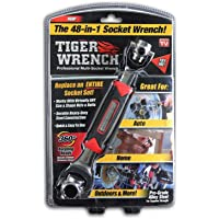 Tiger Wrench TW-MC12 / 4 ONTEL 48 Tools In One Socket | Works with Spline Bolts, 6-Point, 12-Point, Torx, Square Damaged…