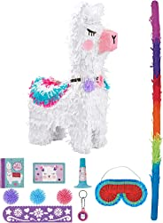Party City Llama Pinata Supplies, Includes an Adorable Pinata, a Pinata Stick, a Blindfold, and Party Favor Toys