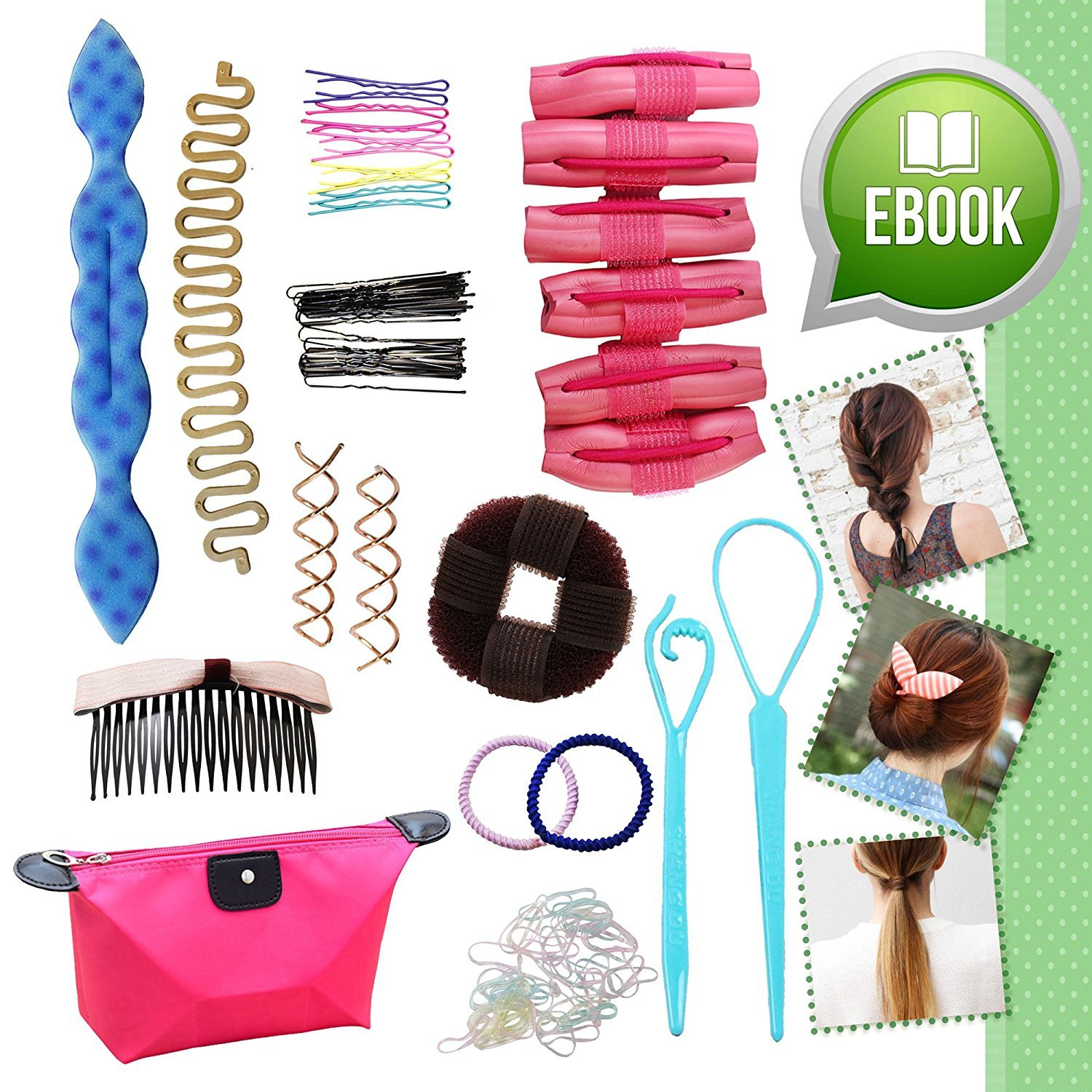Ultimate Hair Styling Makeover Accessories Tool Kit Bonus eBOOK Gift Set for Girls Teens EasyTech Trading Pte. Ltd.