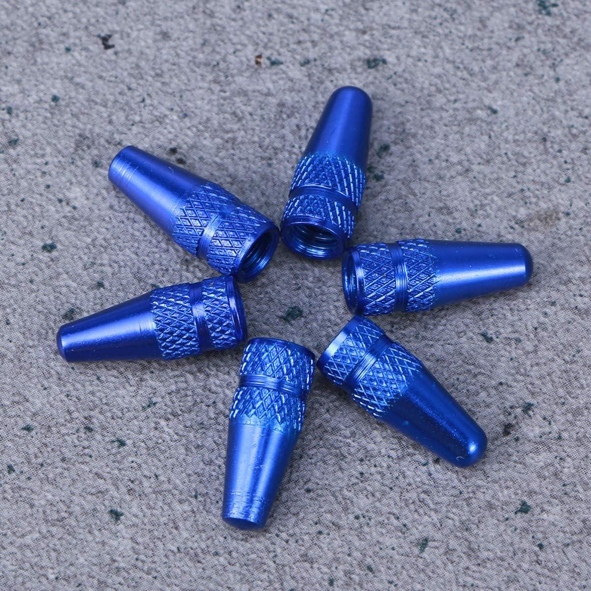 LIOOBO 6 unids Bicicleta Tapas de V/álvulas de Aleaci/ón de Aluminio Estilo Franc/és Bicicleta Bicicleta Neum/áticos Tapas de V/álvulas Cubre Polvo Azul