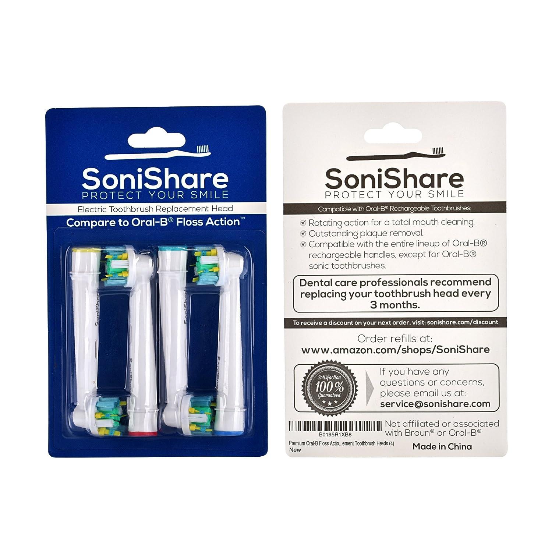 Cabezales genéricos de recambio con acción de hilo dental para los cepillos de dientes Oral B, pack de 4: Amazon.es: Salud y cuidado personal