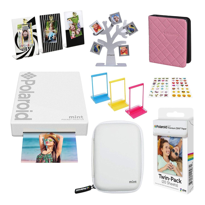 Polaroid Mint Impresora de Bolsillo Inalámbrica (Blanco) Kit de ...