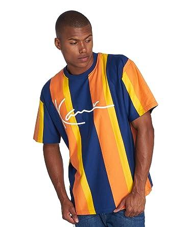 6775c4246eacd Karl Kani College Stripes Camiseta Navy Orange Yellow  Amazon.es  Ropa y  accesorios
