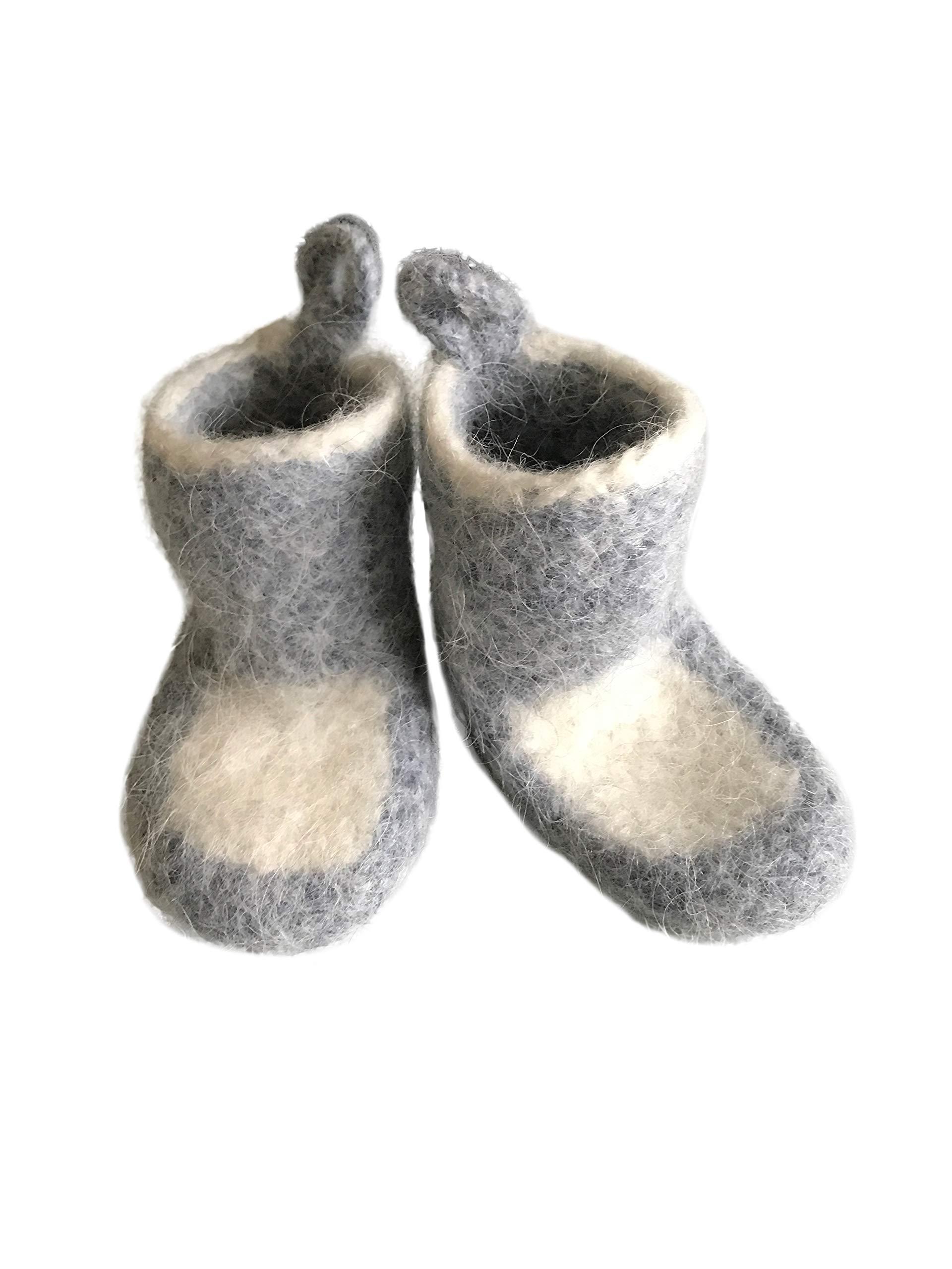 Baby Warm Cozy Wool House Booties Socks Pure Wool. Newborn Boys Girls. Eco Gift by Kosy Sheep