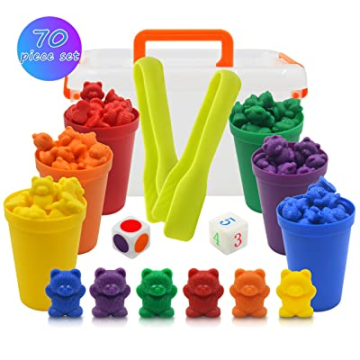 Templeton Educational Counting & Sorting Bears Kit, 70 Piece Super Value Set, Fun Math Manipulative for Home, School, Classroom: Toys & Games