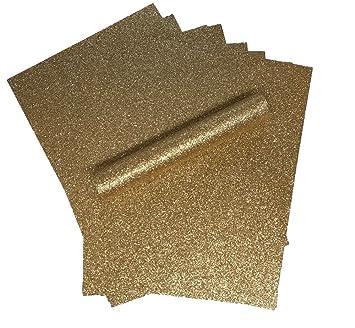 A4 papel con purpurina de oro rosa brillante suave no cobertizo de grosor 150 g/m² Pack de 10 hojas: Amazon.es: Hogar