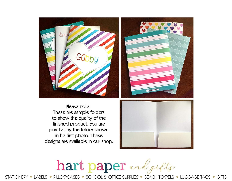 Rainbow Elephant 2 Pocket Folder Gift Name Back to School Supplies Teacher Office Birthday Girl Boy Adult Kids Custom Personalized Custom