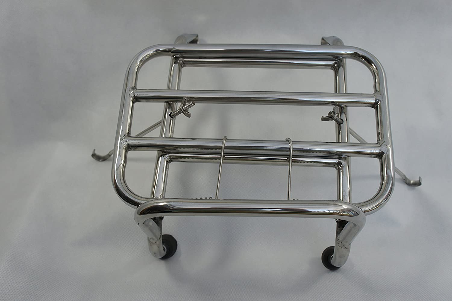 F.A.Italia Chrome Front Carrier for Vespa PX T5