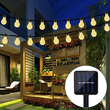 Outdoor Waterproof 11.5Ft 10 Led Clear Plastic Solar Po Solar Globe Bulb Lights