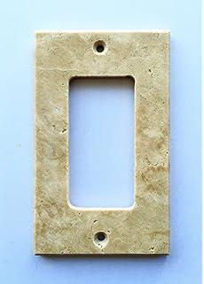 Superieur Light Walnut Travertine Switch Plate Cover Rocker   2.75 X 4.5 IN