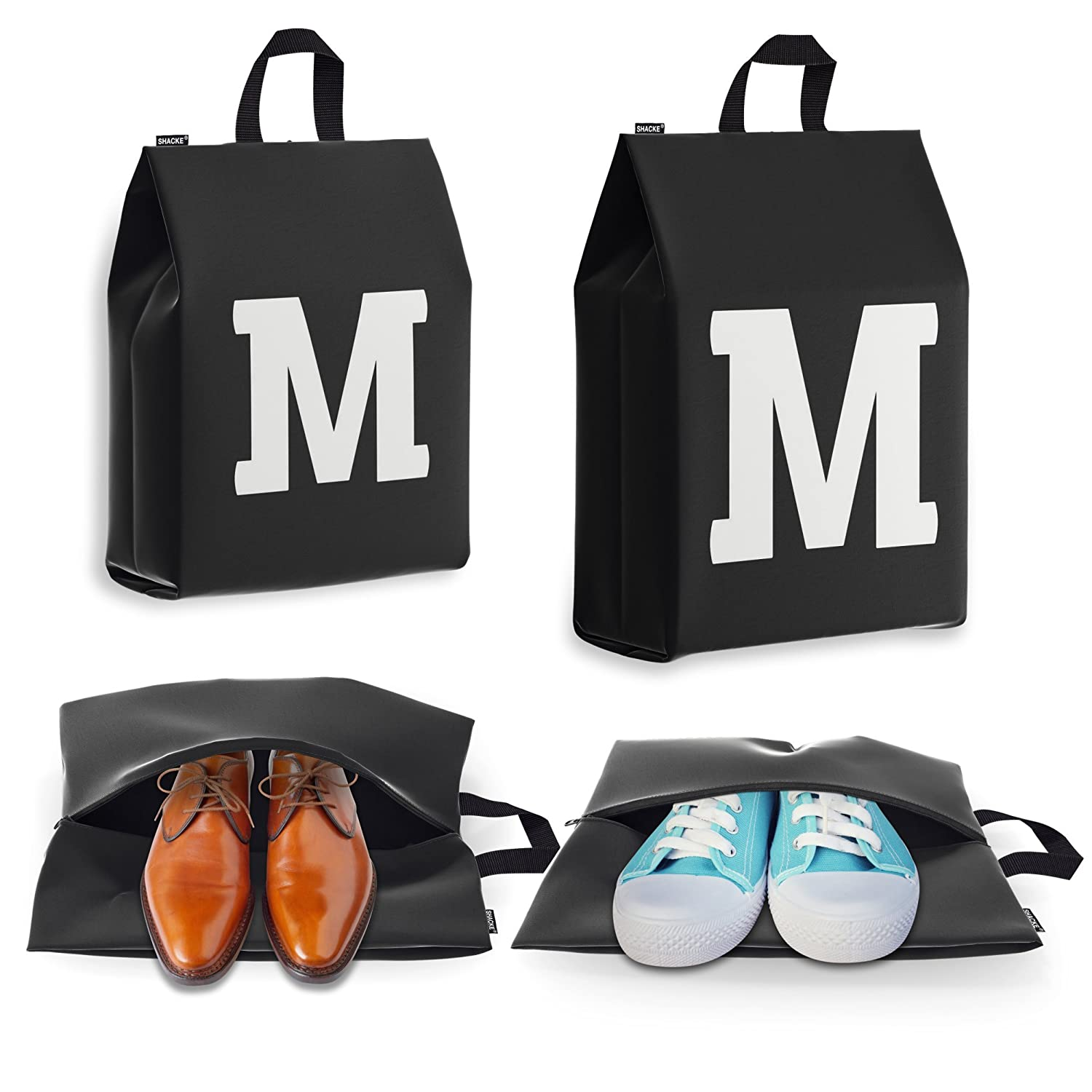 Personalized Initial Travel Shoe Bag (4 Pack) for Men, Women and Kids SB00A