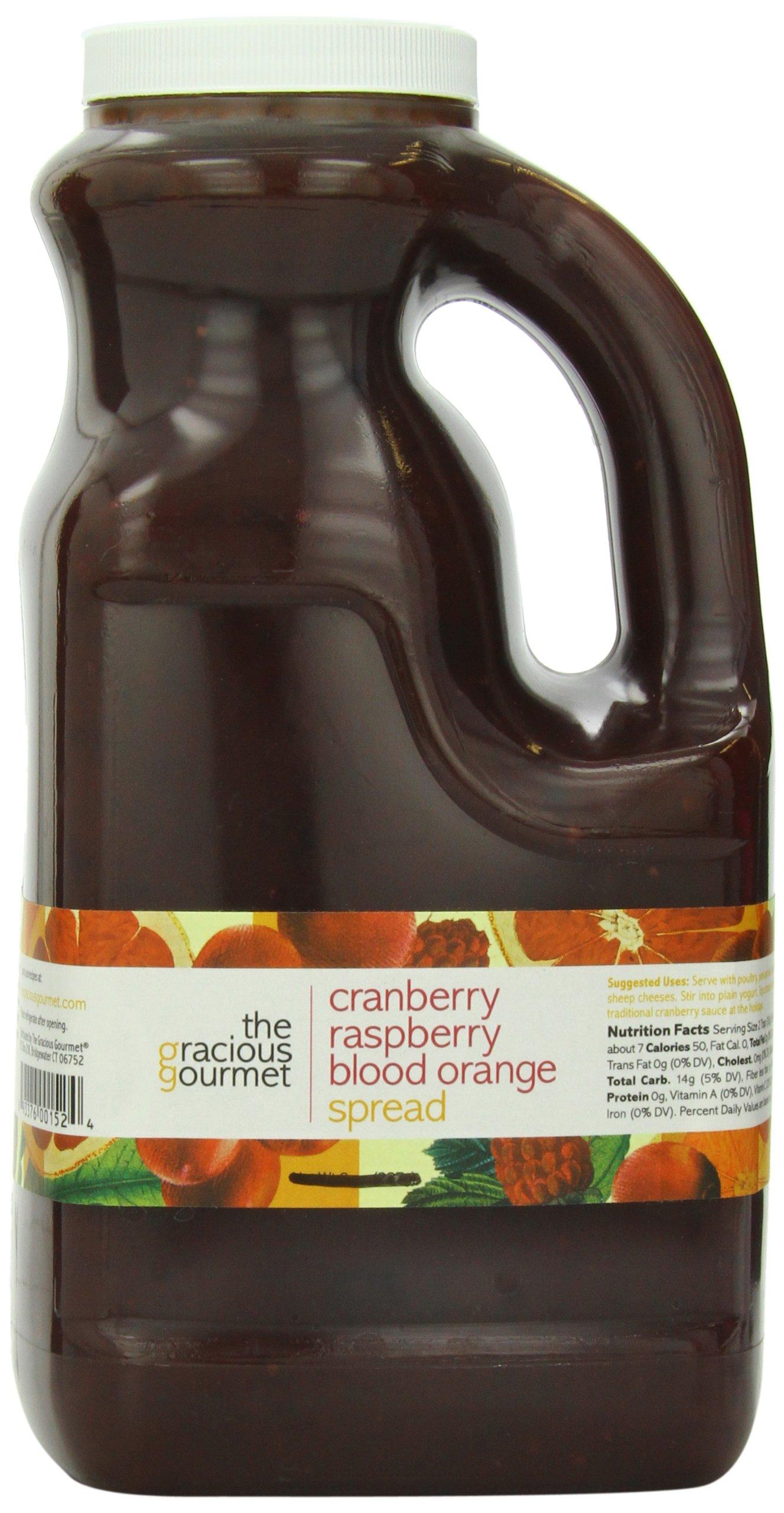 The Gracious Gourmet Cranberry Raspberry Blood Orange Spread, 76-Ounce