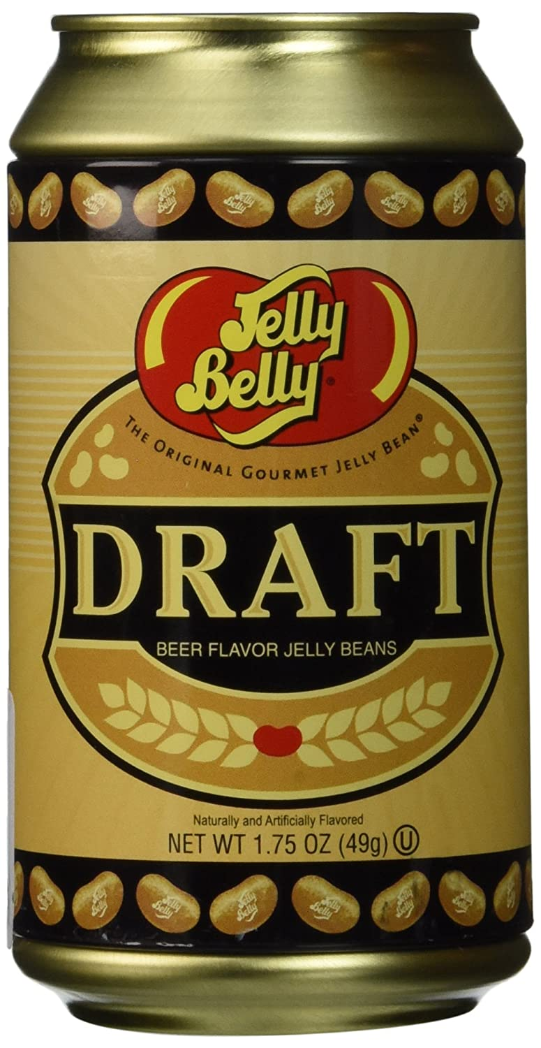 Jelly Belly Draft Beer Can Tin 1.75 Ounces - Genuine, Official, Straight from the Source