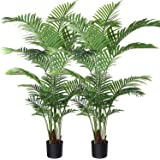 Fopamtri Artificial Areca Palm Plant 5.2 Feet Fake Palm Tree with 17 Trunks Faux Tree for Indoor Outdoor Modern…