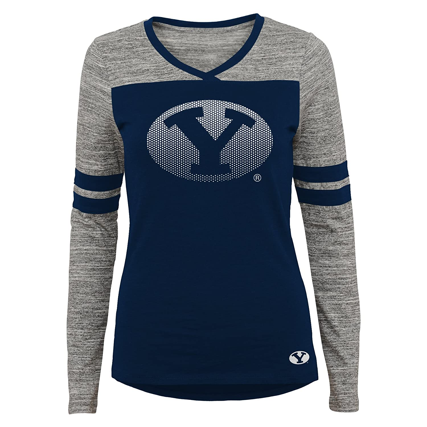 NCAA Byu Cougars Juniors Outerstuff Secret Fan Long Sleeve Football Tee 3-5 Team Color Small