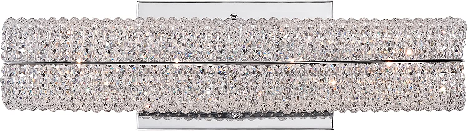 Quoizel EME8604C Evermore Crystal Vanity Bath Bar Lighting, 4-Light, Xenon 80 Watts, Polished Chrome 5 H x 16 W