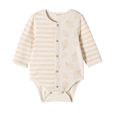 0210a9a5ec85 Zinmore Unisex Baby Bodysuits Long-Sleeve One-Piece Bodysuits Baby Girls  Boys Organic Cotton