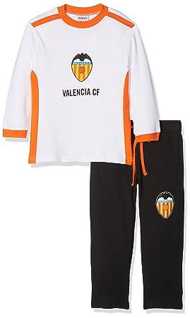 Valencia CF Pijvcf Pijama Larga, Bebé-Niños, Multicolor (Blanco/Naranja)