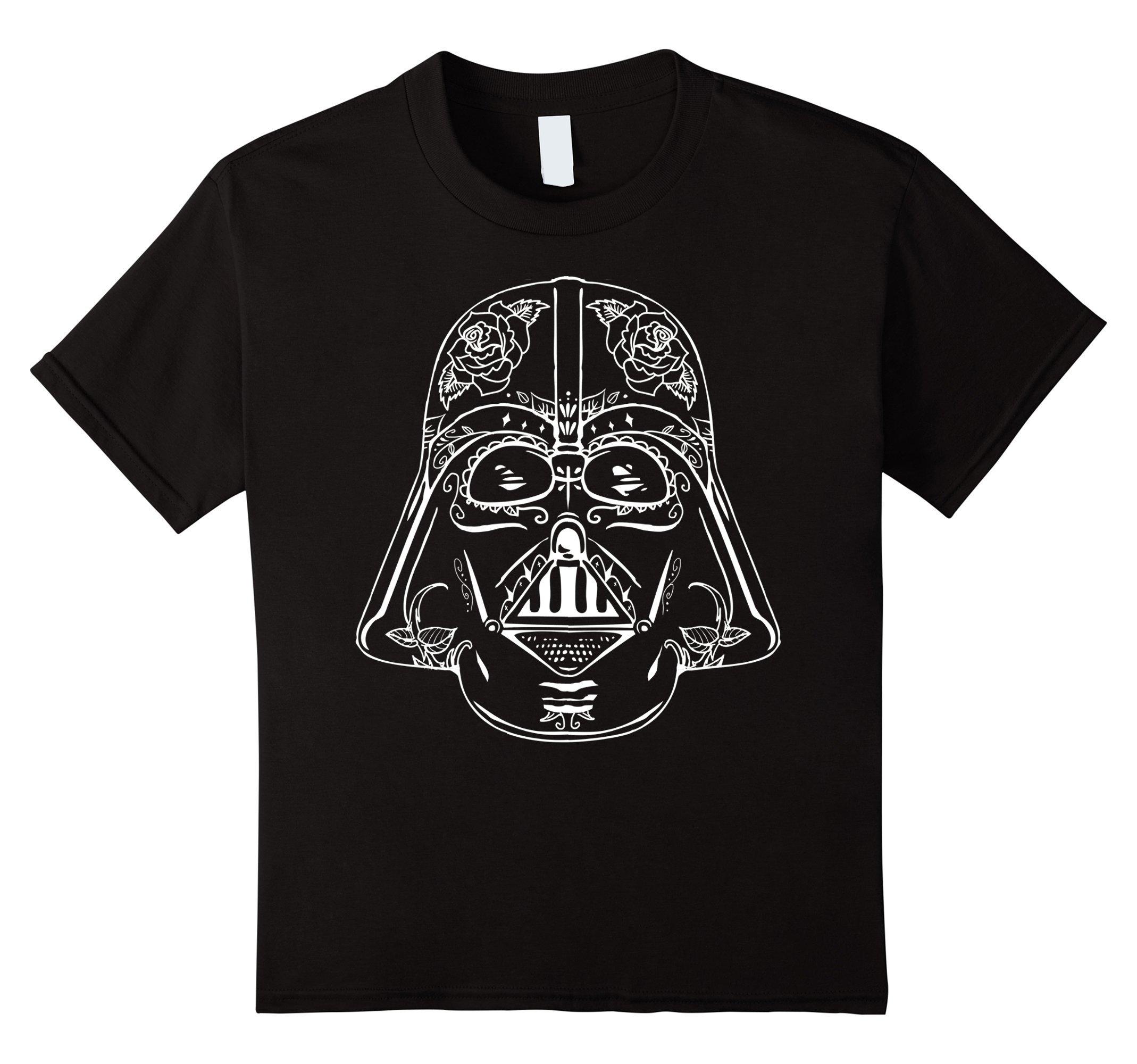 Star Wars Darth Vader Sugar Skull Classic Graphic T Shirt