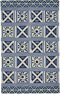 product image for Capel Clinton Blue 8' x 10' Rectangle Hand Tufted Rug