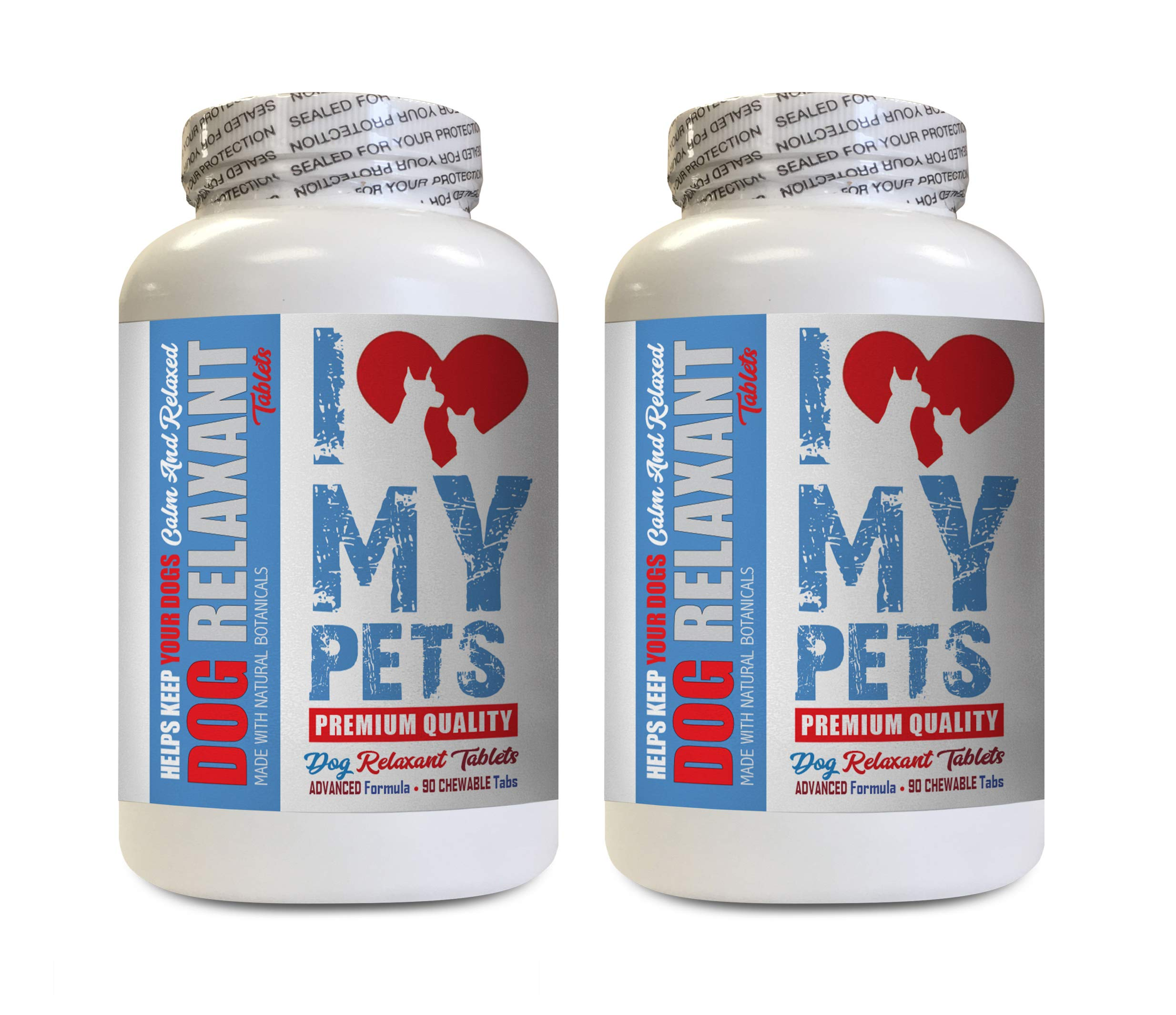 I LOVE MY PETS LLC Anxiety Relief for Dogs - Dog Relaxant - Anxiety Relief - Keep Calm Treats - Beef Liver Powder for Dog - 180 Tablets (2 Bottles) by I LOVE MY PETS LLC
