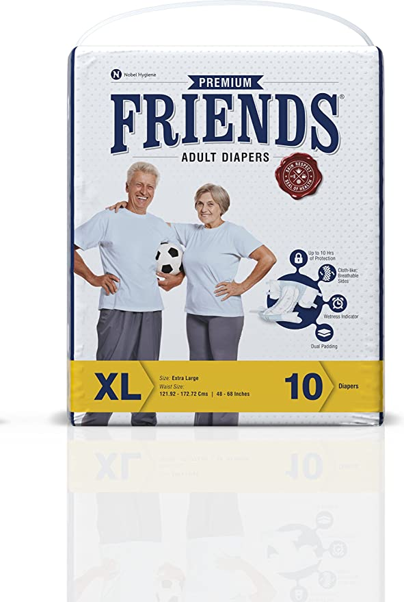 Buy friends adult diaper premium medium 10 count online at buy friends adult diaper premium medium 10 count online at low prices in india amazon fandeluxe Image collections