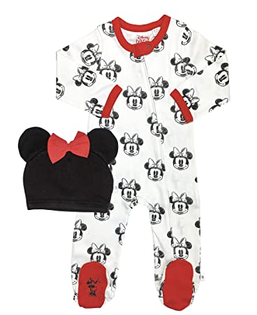 0-9 Months Disney Minnie Mouse Gift Set for Baby Romper Hat Bib brand new