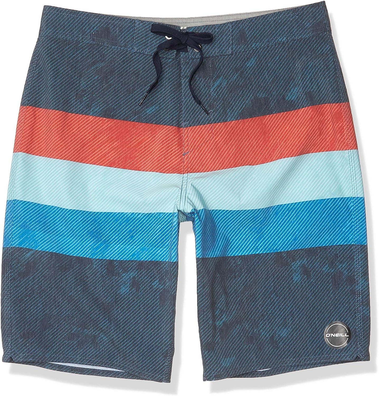 O/'NEILL Mens Pathway Grey Cross Step Beach Board Swim Shorts Small BNWT