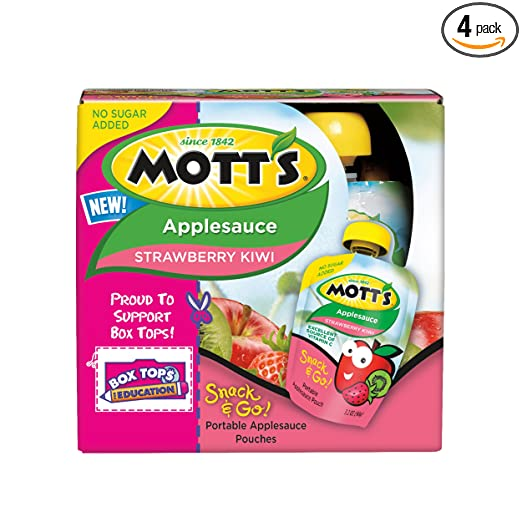 Mott's Snack & Go Strawberry Kiwi Applesauce, 3.2 oz pouches