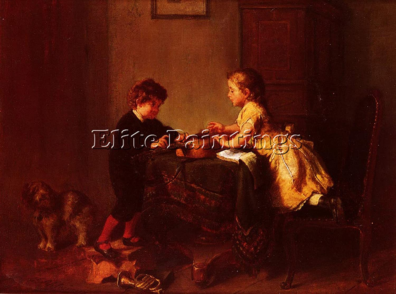 Felix Schlesinger niños tocando la guitarra artista pintura al ...