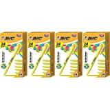 BIC BL241-YEL Brite Liner Highlighter, Chisel Tip, Yellow, 24-Count - 4 Pack