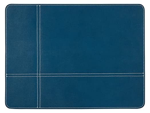 Leather Placemat, One Piece, Blue Table Mat, Genuine Leather Table Mat, 40