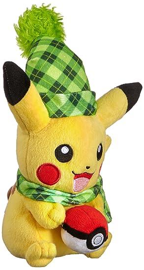 TOMY t19376d Pokémon Sol y Luna, Animales de Peluche, Pikachu como Peluche, Aprox