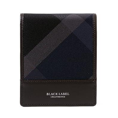 aac012dd607e Amazon | [名入れ可] (ブラックレーベル クレストブリッジ) BLACK LABEL CRESTBRIDGE トーナルクレストブリッジチェック  コインタイプ ウォレット 本革 財布 小銭入れ ...