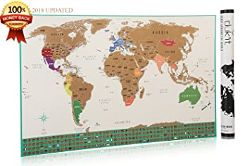 Amazon scratch off world map poster with us states outlined scratch off world map poster with us states outlined perfect travel gift world gumiabroncs Choice Image