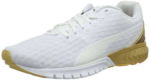 Puma Ignite Dual Gold Wn'S Scarpa da Running Woman Race Bianco/Oro 4.5 EU