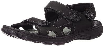 Hush Puppies Men s Simon Black Athletic   Outdoor Sandals - 10 UK India (44 7d3e6d83ad
