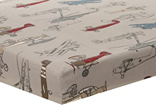 product image for Glenna Jean Fly-by Mini Crib Airplane Sheet, Mini