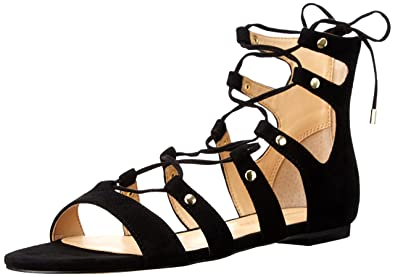 Ivanka Trump Women's Callie Gladiator Sandal, Black Suede, ...