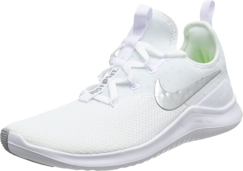 competitive price 7c9f9 6d878 Nike WMNS Free Tr 8 Womens 942888-100 Size 8 White Metallic Silver